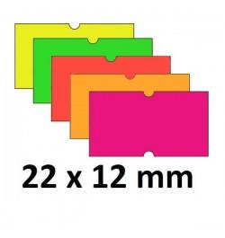 Kainų etiketės 21.5x12 Fluo...
