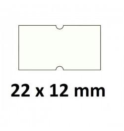 Kainų etiketės 21,5x12mm baltos