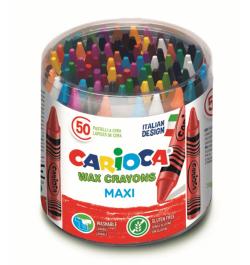 Vaškinės kreidelės Carioca Maxi 50sp