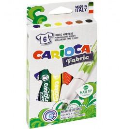Flomasteriai Carioca Fabric 6sp audiniams