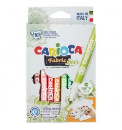 Flomasteriai Carioca Fabric Liner 10sp audiniams