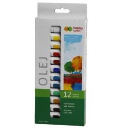Aliejiniai dažai Happy Color 12sp