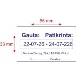 Datatorius Trodat Professional 5466/PL dviguba data