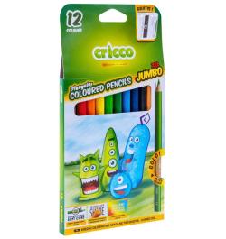 Spalvoti pieštukai Cricco Jumbo CR325 12sp stori