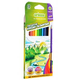 Spalvoti pieštukai Cricco CR322 tribriauniai 12sp