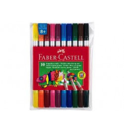 Flomasteriai Faber-Castell dvipusiai 10sp