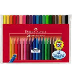 Flomasteriai Faber-Castell Grip Color 20sp