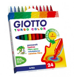 Flomasteriai Giotto Turbo Color 24sp