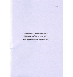 Šiluminio apdorojimo temperatūros ir laiko registracijos žurnalas