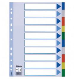 Plastikiniai spalvoti skiriamieji lapai Esselte 10