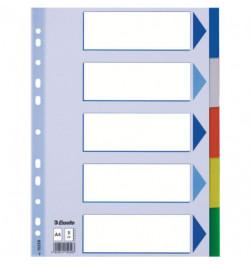 Plastikiniai spalvoti skiriamieji lapai Esselte 5