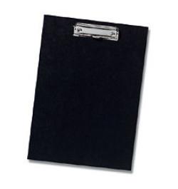 Rašymo lenta su prispaudėju A5 juoda vienguba