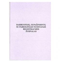 Darbuotojų supažindintų su pareiginiais nuostatais registravimo žurnalas