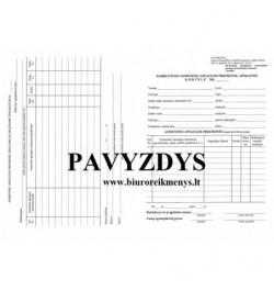 Darbuotojo asmeninių apsaugos priemonių apskaitos kortelė