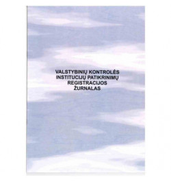 Valstybinių kontrolės institucijų patikrinimų registravimo žurnalas