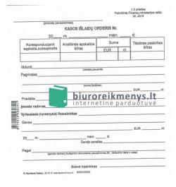Kasos išlaidų orderiai A6