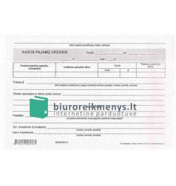 Kasos pajamų orderis A5 SC