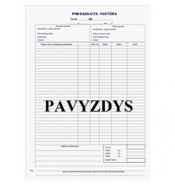 PVM sąskaita faktūra A4
