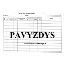 Įmonės skolų apskaitos kortelė