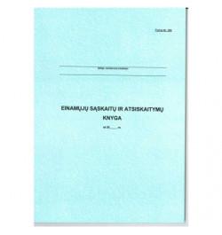 Einamų sąskaitų ir atsiskaitymų knyga 292 A4