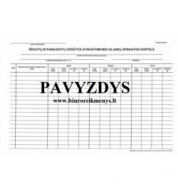 Išduotų ir panaudotų griežtos atskaitomybės blankų apskaitos kortelė