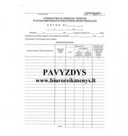 Atsiskaitymų su pirkėjais, tiekėjais, ir kitais debitoriais ir kreditoriais inventorizacijos aktas