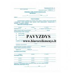 Piniginių lėšų inventorizacijos aktas