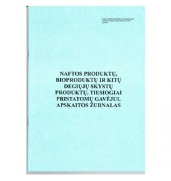 Naftos produktų, bioproduktų ir kitų degiųjų skystų produktų, tiesiogiai pristatomų gavėjui apskaitos žurnalas 4pr.