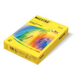 Spalvotas popierius Maestro citrinos spalva A4 80g 500lp