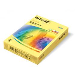 Spalvotas popierius Maestro šviesiai geltona A4 80g 500lp