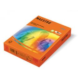 Spalvotas popierius Maestro oranžinė A4 160g 250lp