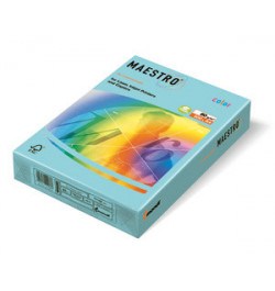 Spalvotas popierius Maestro žydra A4 80g 500lp