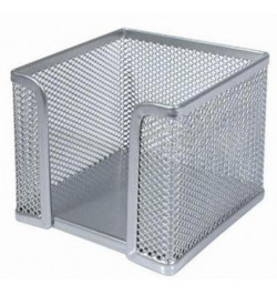 Dėžutė užrašų lapeliams sidabrinė metalinė
