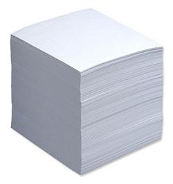 Užrašų lapeliai 90x90 balti neklijuoti 500lp