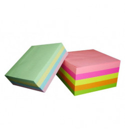 Užrašų lapeliai 90x90 spalvoti neklijuoti 500lp