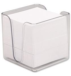 Užrašų lapeliai 90x90 su dėžute balti
