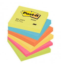 Lipnūs lapeliai Post-it Neon 76x76 100lp mix