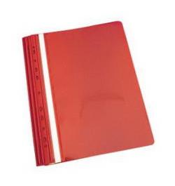 Plastikinis segtuvėlis su perforacija A4 raudonas