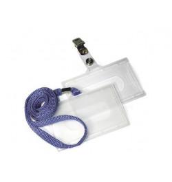 Identifikatoriaus dėklas su mėlyna virvele