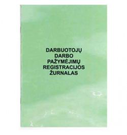 Darbuotojų darbo pažymėjimų registravimo žurnalas A5