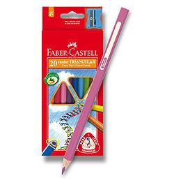 Spalvoti pieštukai Faber-Castell Junior Trian.20sp