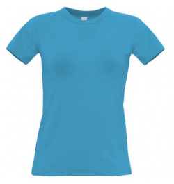 Marškinėliai B&C Women Exact 190 L šv.mėlyni