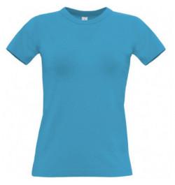 Marškinėliai B&C Women Exact 190 S šv.mėlyni