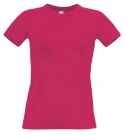 Marškinėliai B&C Women Exact 190 S rožiniai