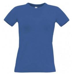 Marškinėliai B&C Women Exact 190 XS mėlyni