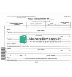Kasos išlaidų orderiai A5
