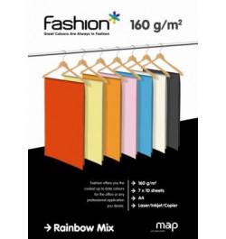 Spalvotas popierius Fashion A4 160g 70 l. Įv.sp.