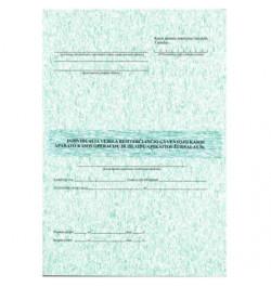Individualia veikla besiverčiančio gyvento kasos aparato kasos operacijų ir išlaidų apskaitos žurnalas