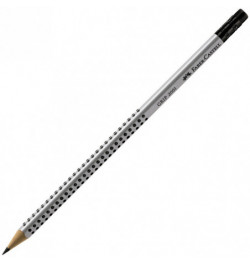 Pieštukai Faber-Castell Grip 2001 HB su trintuku