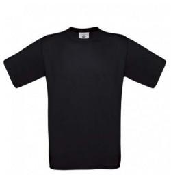 Marškinėliai B&C Exact 150 S juodi